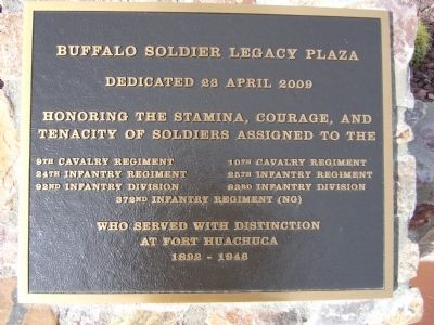 Buffalo Soldier Legacy Plaza Marker image. Click for full size.
