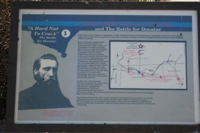 Hood�s Middle Tennessee Campaign and The Battle for Decatur Marker image. Click for full size.