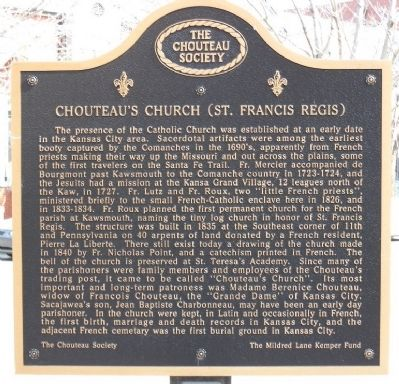Chouteau's Church (St. Francis Regis) Marker Photo, Click for full size
