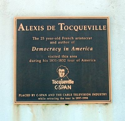 Alexis de Tocqueville Marker Photo, Click for full size