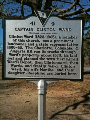 Spann Methodist Church / Captain Clinton Ward Marker (reverse) image. Click for full size.