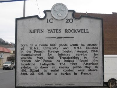 Kiffin Yates Rockwell Marker image. Click for full size.
