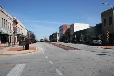 Site of the fortifications line looking north on Bank Street at Vine Street image. Click for full size.