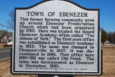 Town of Ebenezer Marker image. Click for full size.