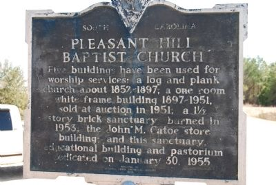 Pleasant Hill Baptist Church Marker image, Click for more information