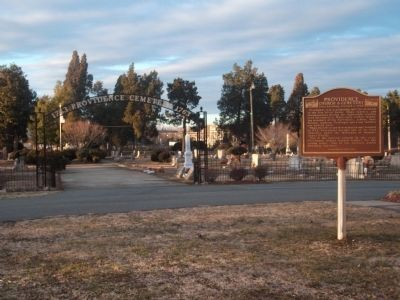 Providence Cemetery Entrance image. Click for full size.