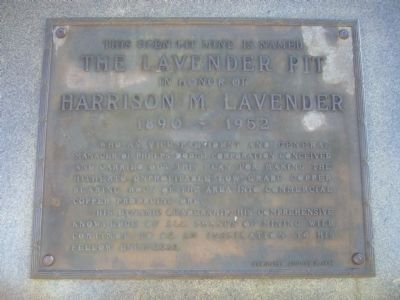 The Lavender Pit Marker image. Click for full size.