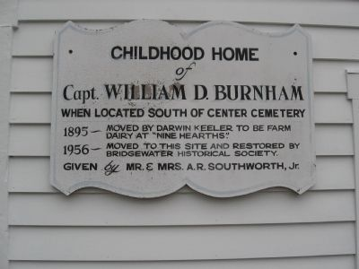 Childhood Home of Capt. William D. Burnham Marker image. Click for full size.