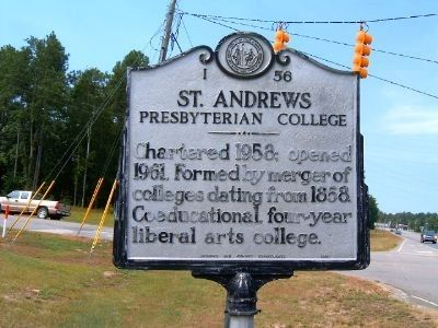 St. Andrews Presbyterian College Marker image. Click for full size.
