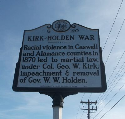 Kirk-Holden War Marker image. Click for full size.
