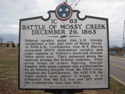 Battle of Mossy Creek Marker Photo, Click for full size