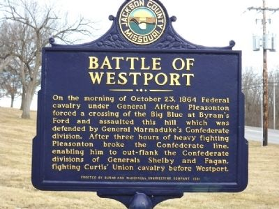 Battle of Westport Marker Photo, Click for full size