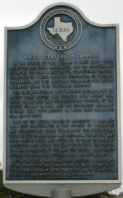 Waul's Texas Legion Campsite Marker Photo, Click for full size