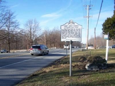 Saint James� Church Marker as seen along State Road 2, looking north Photo, Click for full size