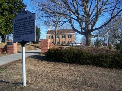 All Saints Episcopal Church and Marker Photo, Click for full size
