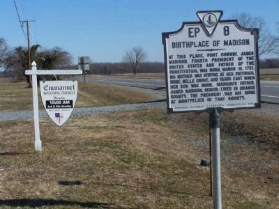 Birthplace of Madison Marker as seen along US 301 Photo, Click for full size