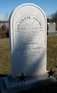 Abraham Thomas Grave Marker image. Click for full size.