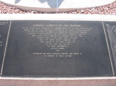 National Native American Vietnam Veterans Memorial Marker Photo, Click for full size