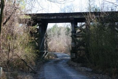 Old Abandon Railroad Trestle Near Altoona, Alabama image. Click for full size.