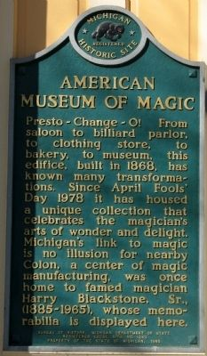 American Museum of Magic Marker image. Click for full size.