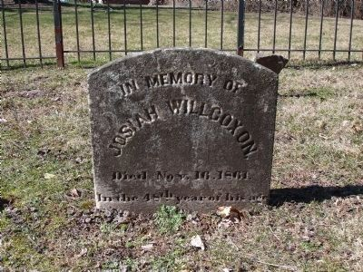 Gravestone of Josiah Willcoxon Photo, Click for full size