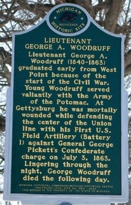 Lieutenant George A. Woodruff Marker image. Click for full size.