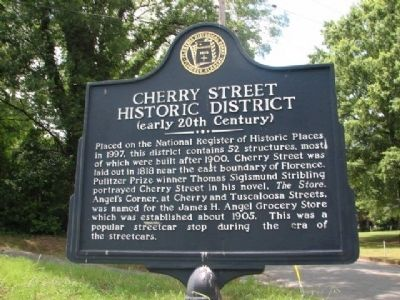 Cherry Street Historic District Marker Photo, Click for full size