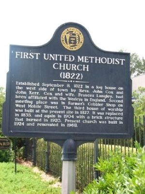 First United Methodist Church 1822 Marker image. Click for full size.