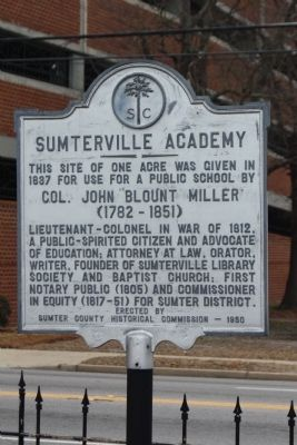 Sumterville Academy Marker image. Click for full size.