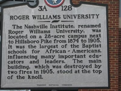 Roger Williams University Marker image. Click for full size.