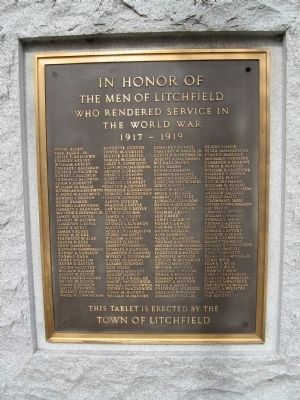 Litchfield World War I Monument Photo, Click for full size