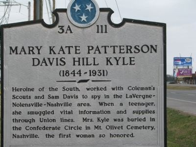 Mary Kate Patterson Davis Hill Kyle Marker image. Click for full size.