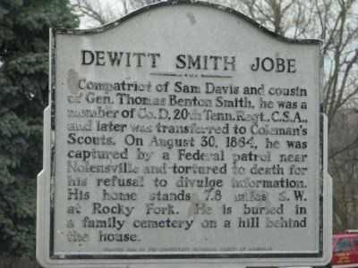 Dewitt Smith Jobe Marker image. Click for full size.