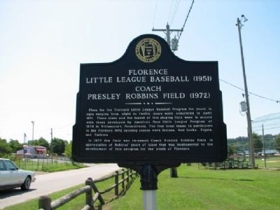 Florence Little League Baseball (1951) Marker image. Click for full size.