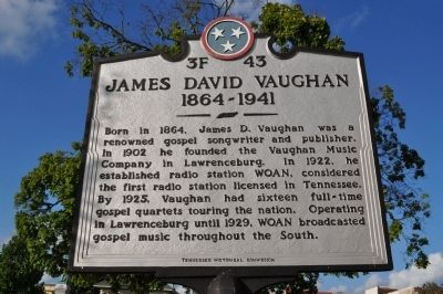 James David Vaughn Marker image. Click for full size.