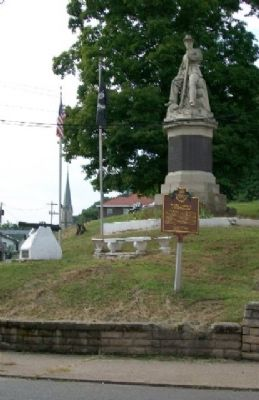 Morgan's Raid Route / Meigs County Courthouse Marker Photo, Click for full size