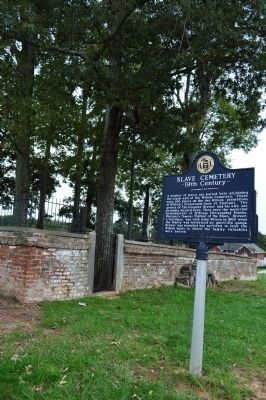 Slave Cemetery 19th Century Marker Photo, Click for full size
