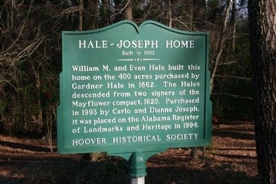 Hale - Joseph Home Marker image. Click for full size.