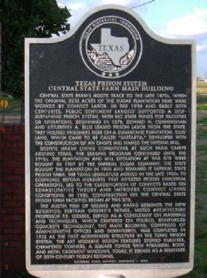Central State Prison Farm Marker image. Click for full size.