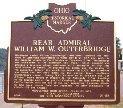 Rear Admiral William W. Outerbridge Marker Photo, Click for full size