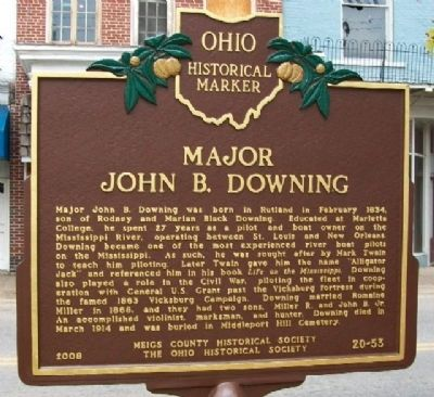 Major John B. Downing Marker image. Click for full size.