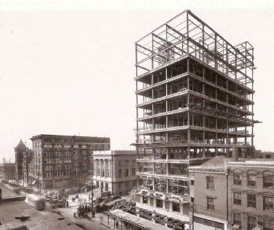 Poinsett Hotel Under Construction image. Click for full size.