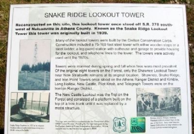 Snake Ridge Lookout Tower Marker image. Click for full size.