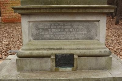 Sumter Grave , west face image. Click for full size.