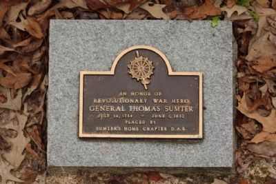 Sumter Grave D.A.R. Ground Marker Photo, Click for full size