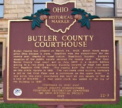 Butler County Courthouse Marker (Side A) image. Click for full size.