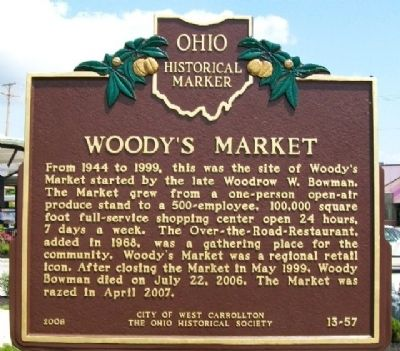 Woody's Market Marker image. Click for full size.