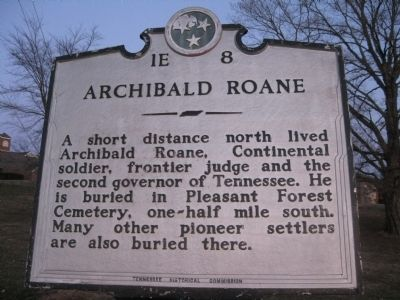Archibald Roane Marker image. Click for full size.