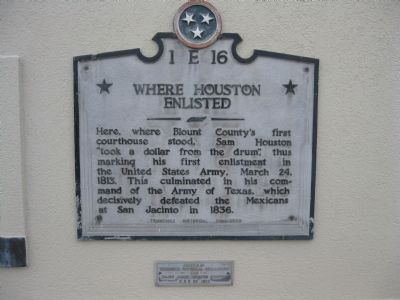 Where Houston Enlisted Marker image. Click for full size.