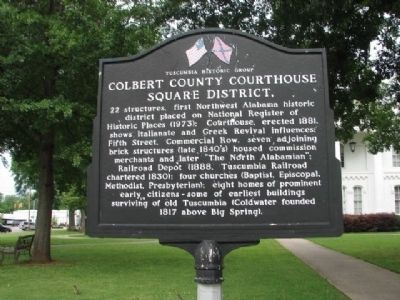 Colbert County Courthouse Square District Marker image. Click for full size.